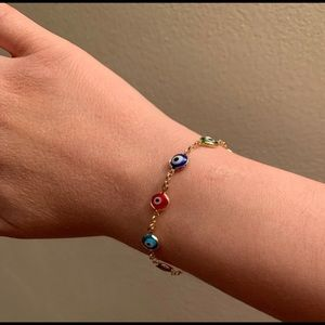 18K GOLD FILLED EVIL EYE ADULT  BRACELET